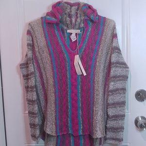 Lovestitch NWT Open Knit Striped Sweater Lg